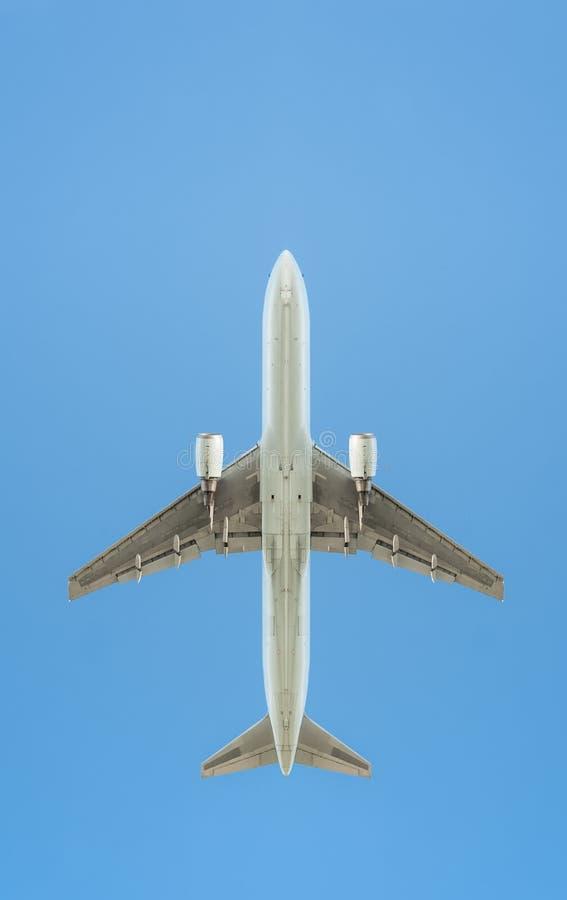喷气式客机剪影 库存照片