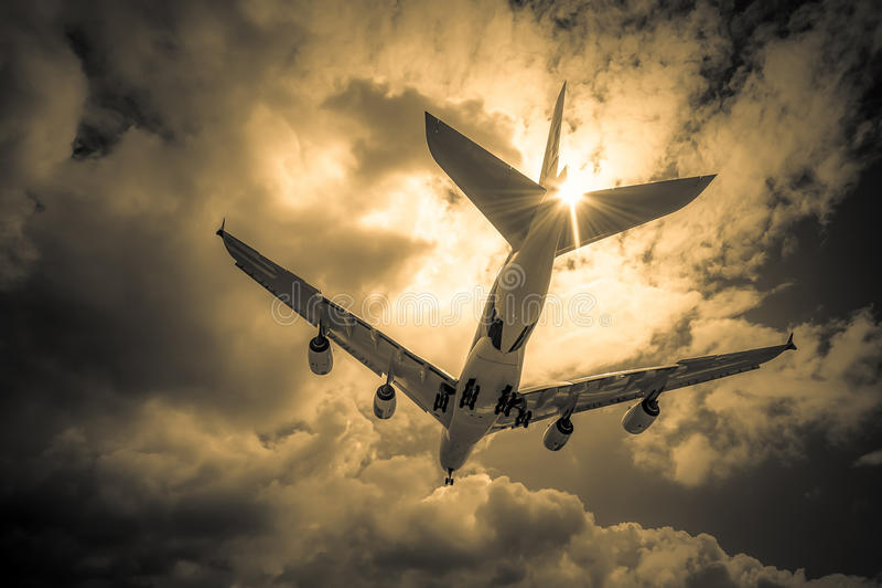 喷气式客机 免版税库存图片