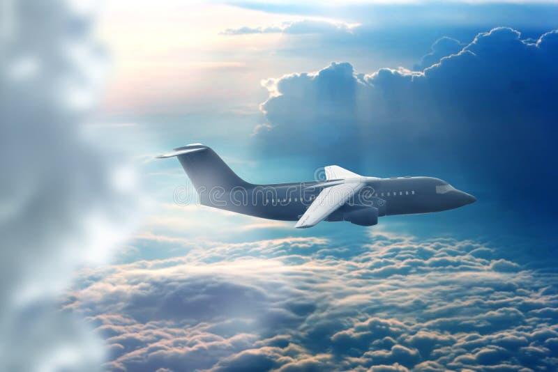 喷气式客机 免版税图库摄影