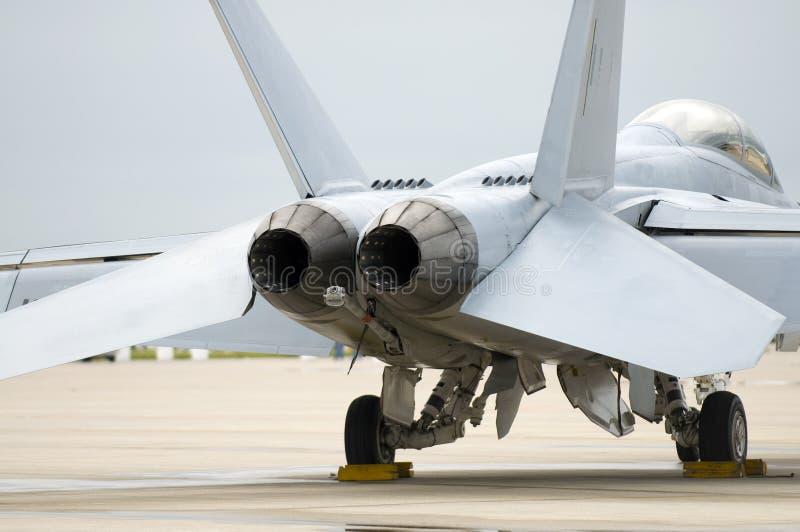 喷气式歼击机尾标 免版税库存照片