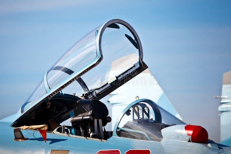 喷气式歼击机驾驶舱  免版税库存照片