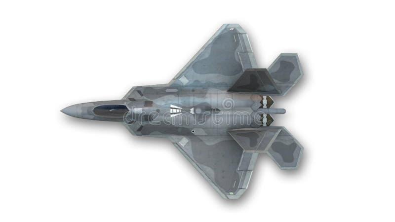 喷气式歼击机,军用飞机,顶视图 图库摄影