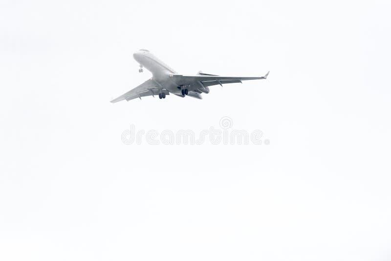 喷气机云彩最后渐近 库存图片