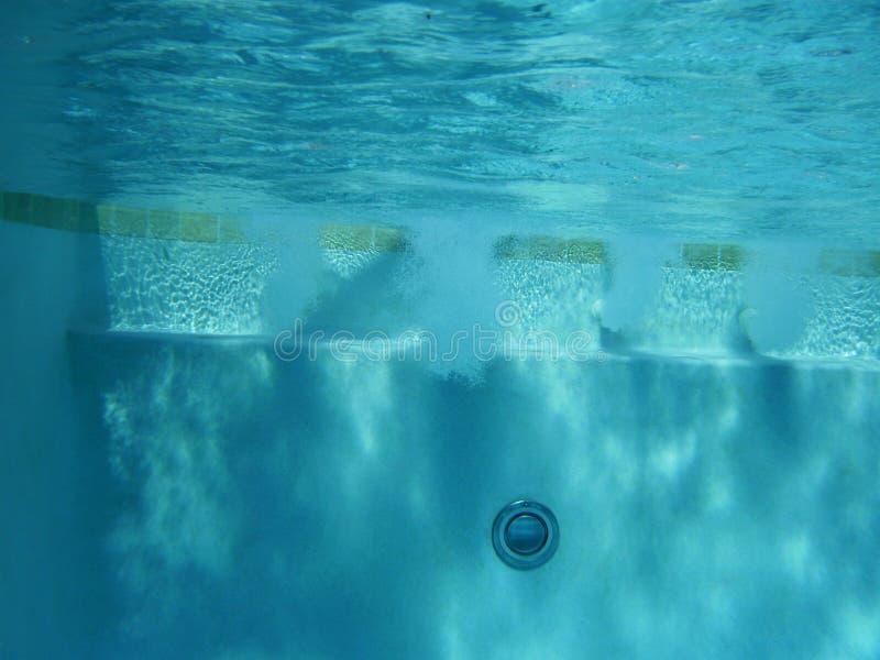 喷气机合并在水之下 库存图片