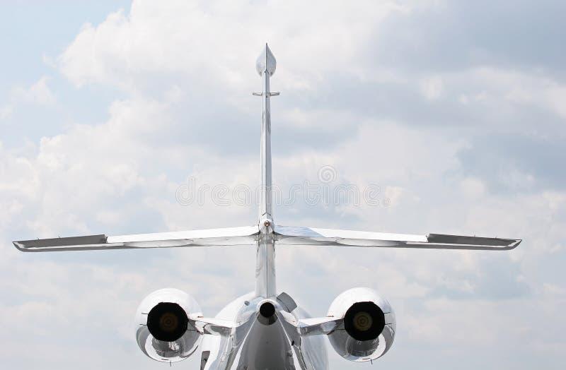喷气机后方 免版税库存照片