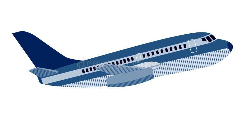 喷气机庞然大物飞机 向量例证
