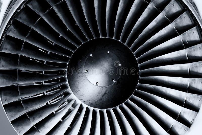 喷气机引擎关闭 免版税库存照片