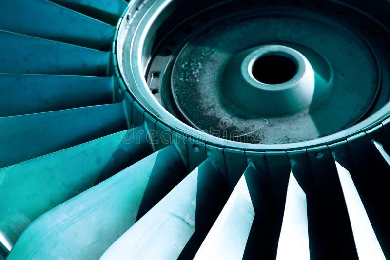 喷气机引擎零件 免版税图库摄影
