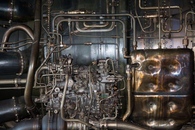 喷气机引擎细节 免版税库存照片