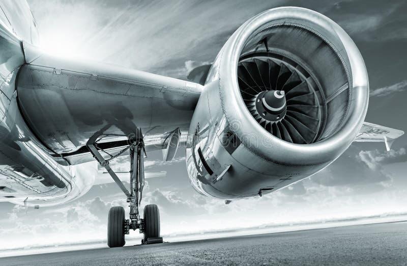 喷气机引擎 免版税库存照片