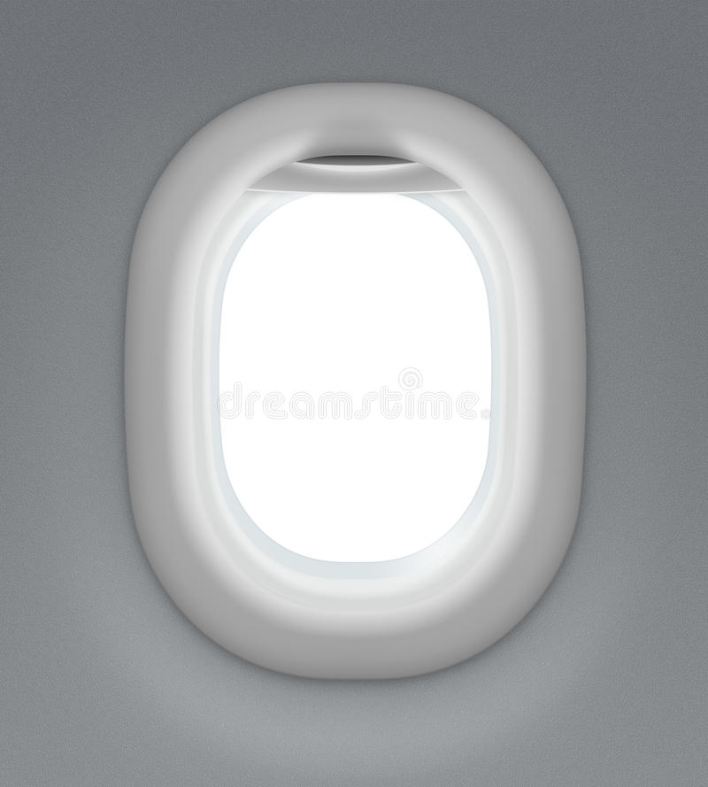 喷气机或飞机窗口 免版税库存图片
