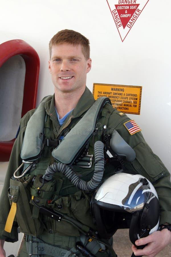喷气机海军飞行员 库存图片