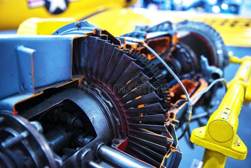 喷气机涡轮发动机外形 免版税库存照片