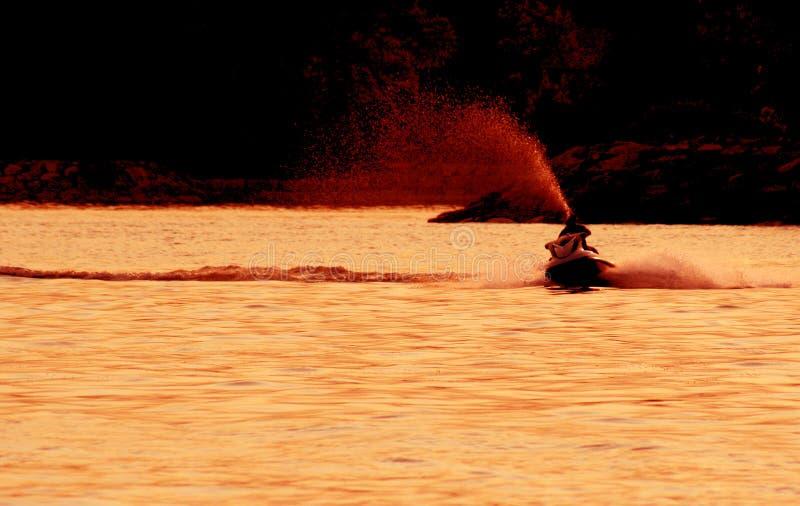 喷气机滑雪浪花 图库摄影
