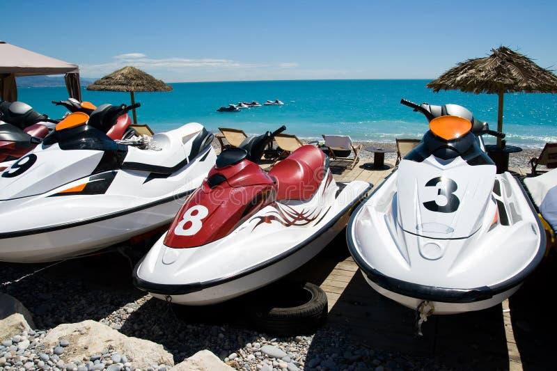 喷气机滑雪watersport 免版税图库摄影