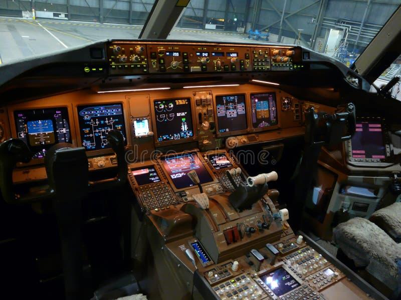 喷气机驾驶舱 库存照片