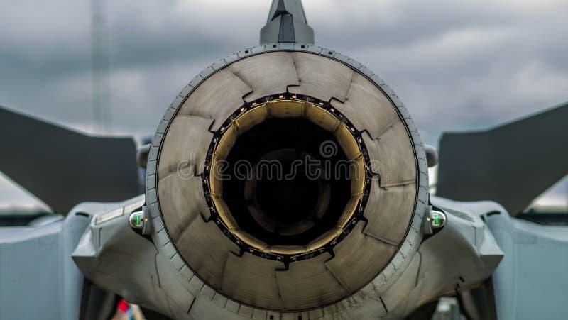 喷气机figher尾气 免版税库存照片