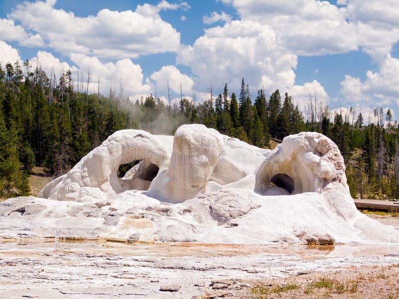 洞穴喷泉在黄石公园,怀俄明,美国 库存图片