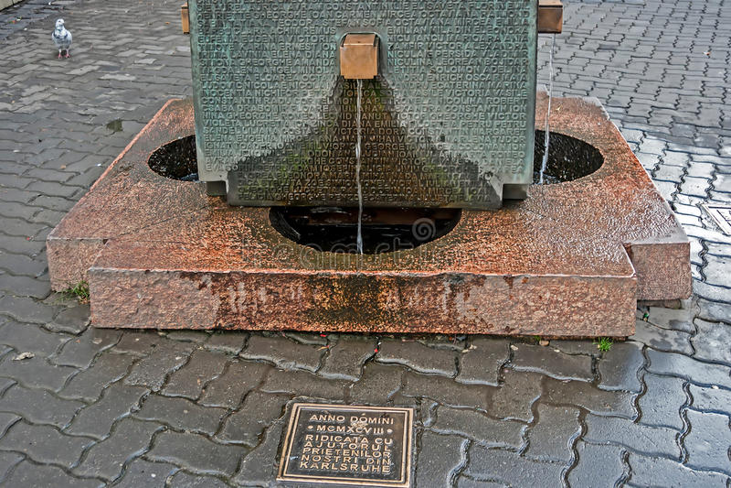 喷泉作为纪念纪念碑 免版税图库摄影
