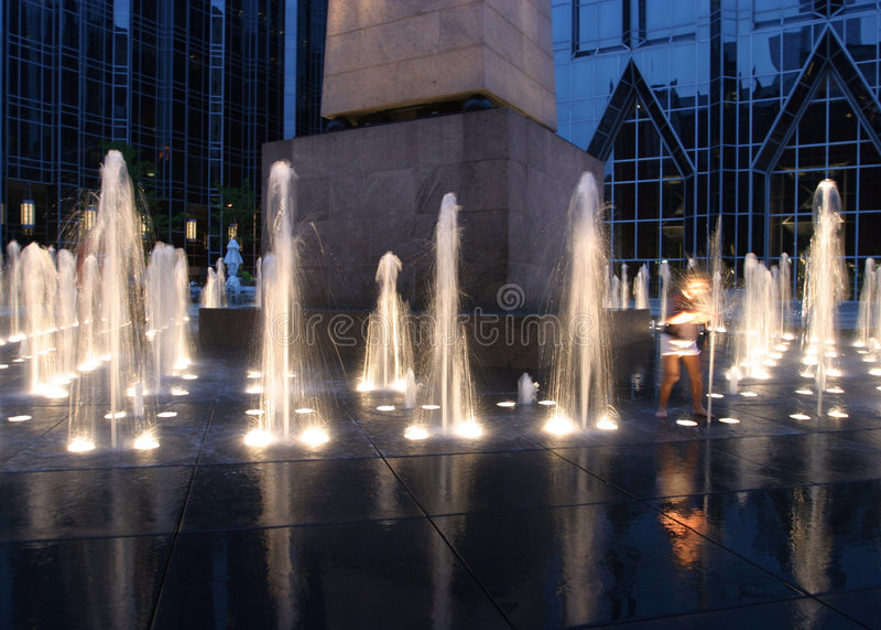 喷泉作用 库存图片
