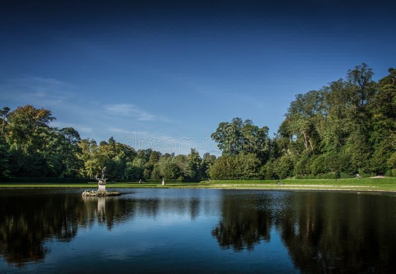 喷泉修道院在约克夏,英国 库存照片