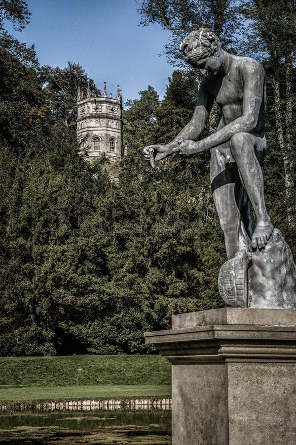 喷泉修道院在约克夏,英国 库存图片