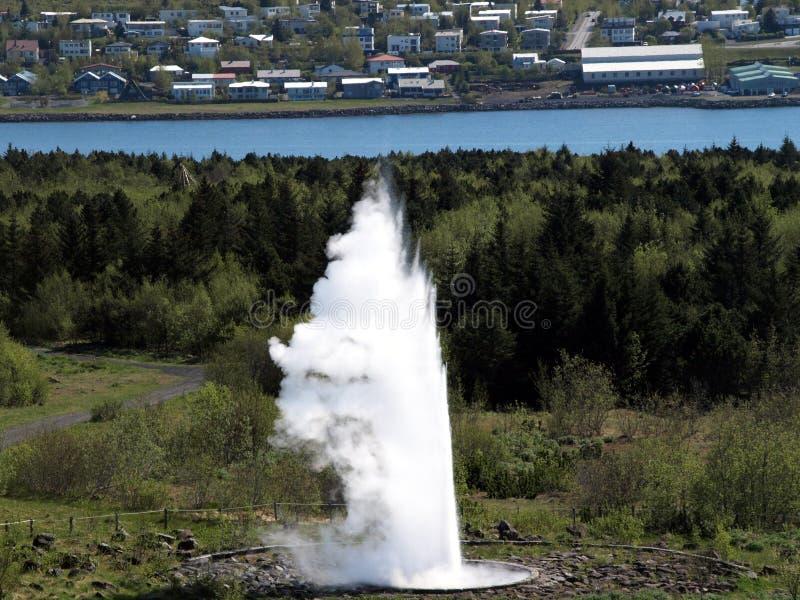 喷泉冰岛 免版税库存图片