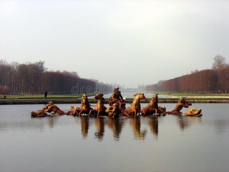 喷泉凡尔赛 免版税库存图片