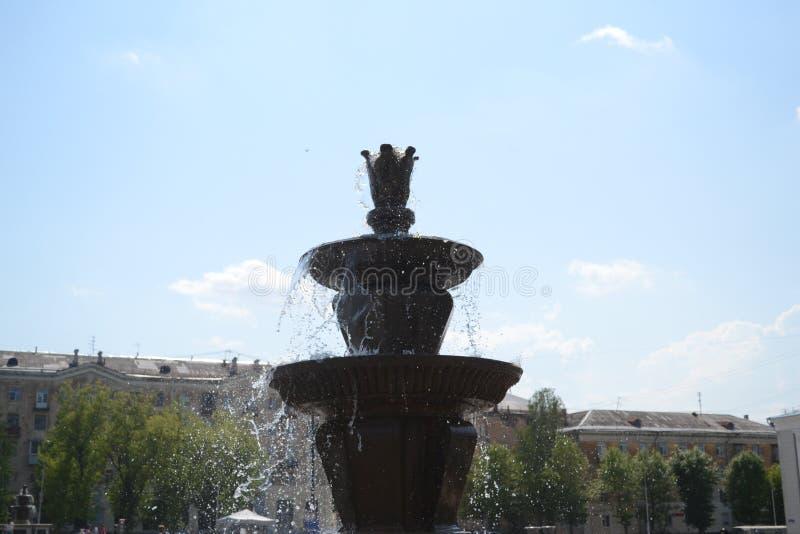 喷泉和光 图库摄影