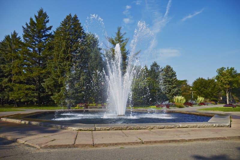 水喷泉喷射  免版税库存图片