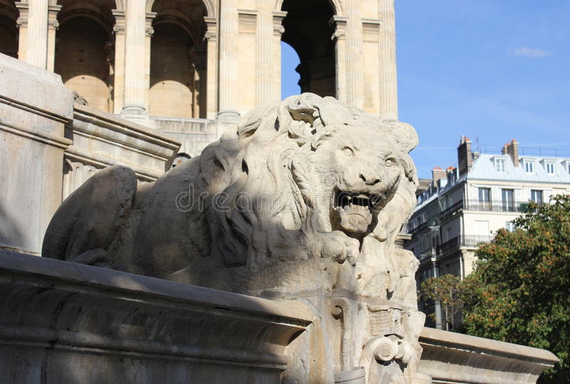 喷泉圣徒Sulpice 库存图片