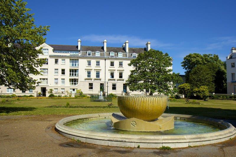 喷泉在坎特伯雷,丹麦人约翰庭院 免版税图库摄影