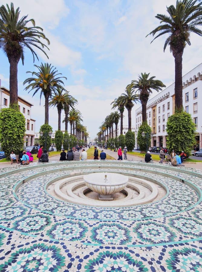 喷泉在拉巴特,摩洛哥 免版税库存图片