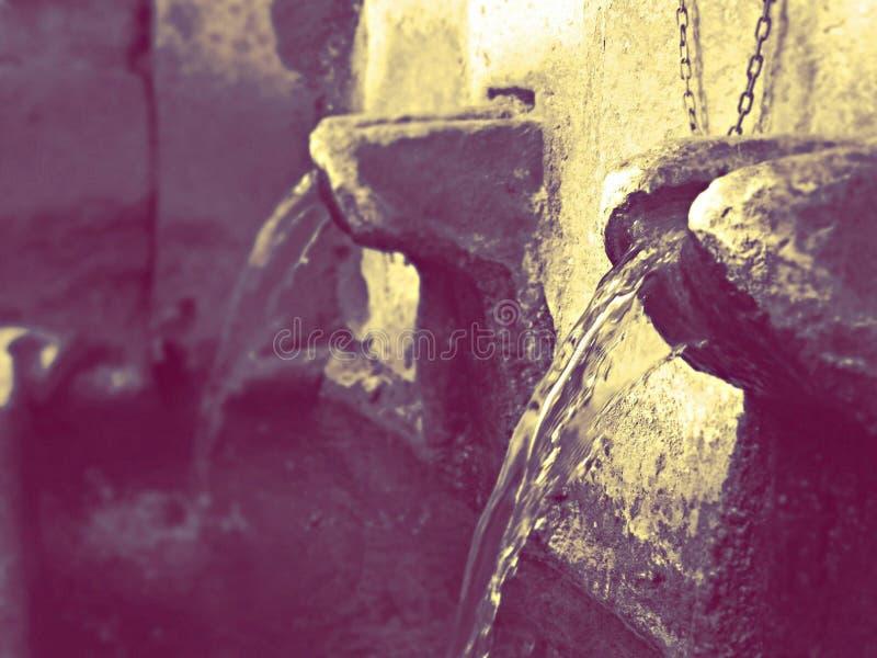 喷泉在文斯,马其顿 免版税库存图片