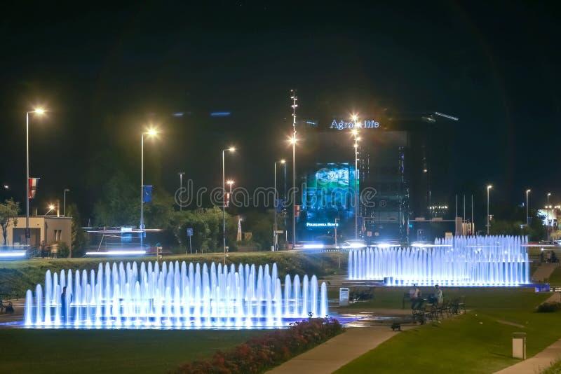 喷泉在萨格勒布 免版税库存图片