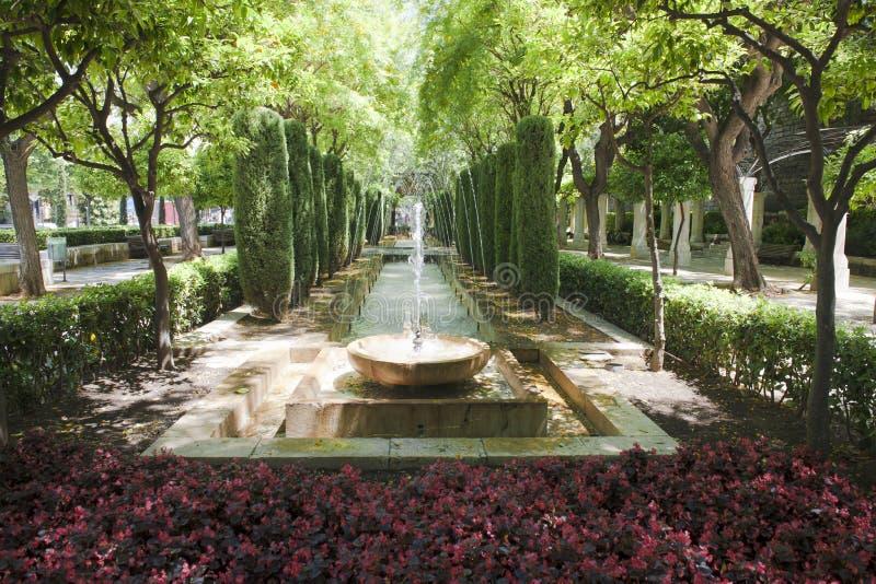 喷泉在Palma de Majorca (Mallorca) 免版税库存图片