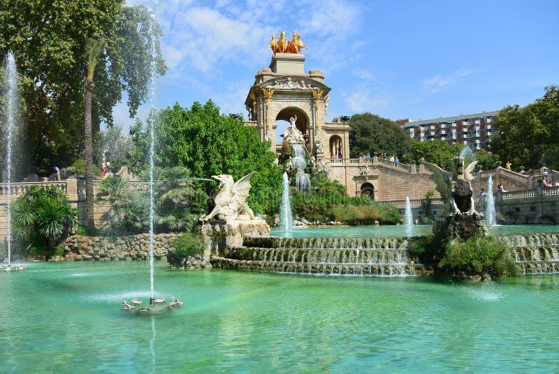喷泉安东尼Gaudi, Parc de la Ciutadella,巴塞罗那 库存图片