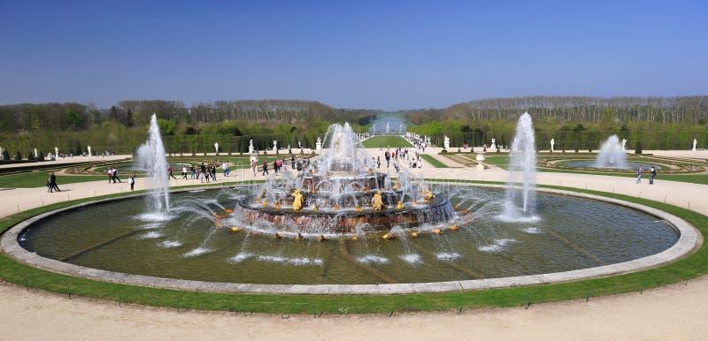 喷泉宫殿凡尔赛 库存照片