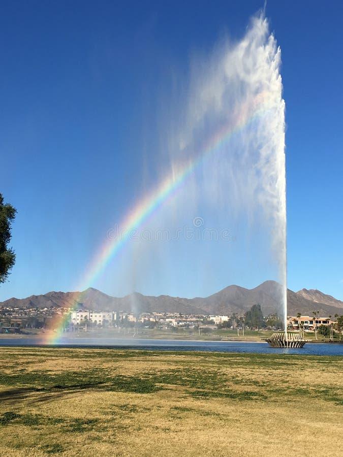 喷泉小山 库存照片