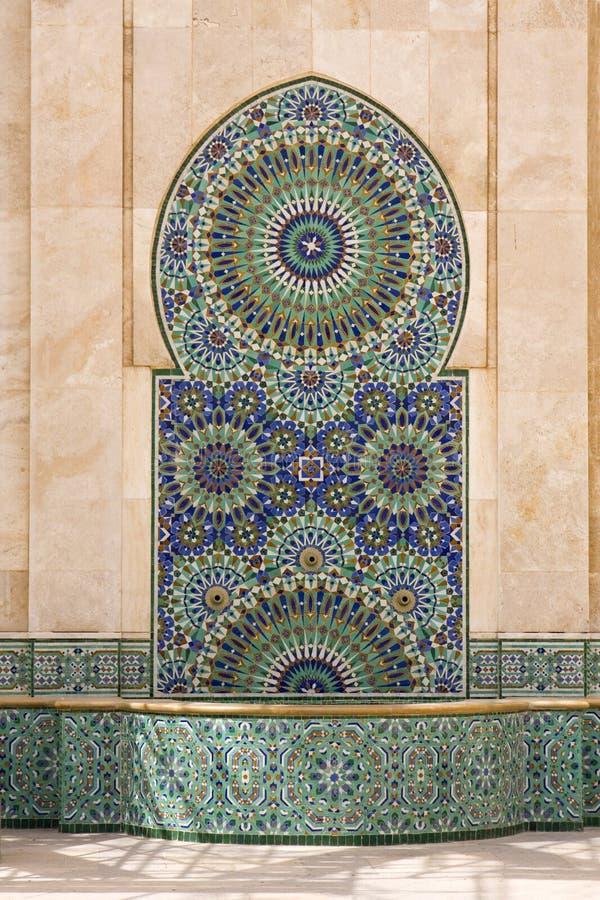 喷泉摩洛哥人 免版税图库摄影