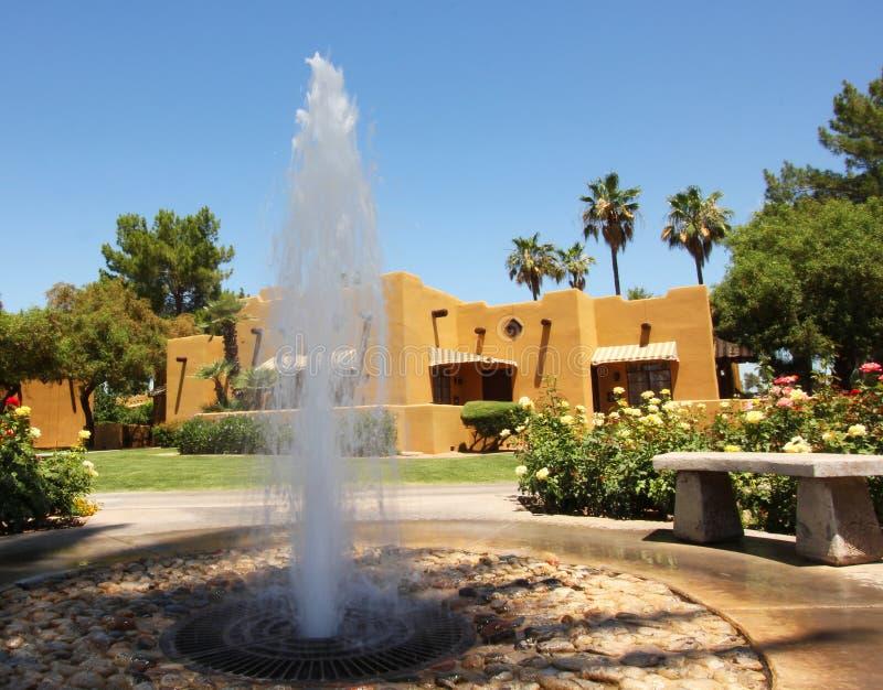 喷泉疗养地 库存图片