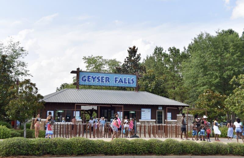 喷泉秋天浇灌公园,乔克托人,密西西比 库存图片