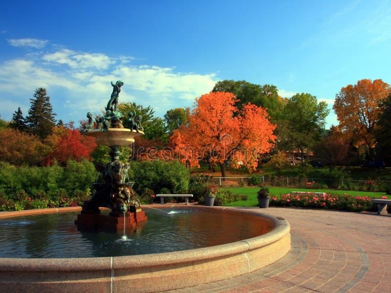 喷泉米尼亚波尼斯公园 免版税库存图片