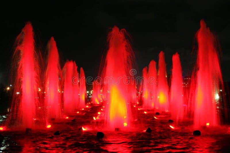 喷泉红色 库存照片