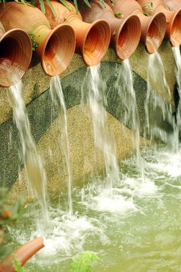 喷泉罐水 图库摄影