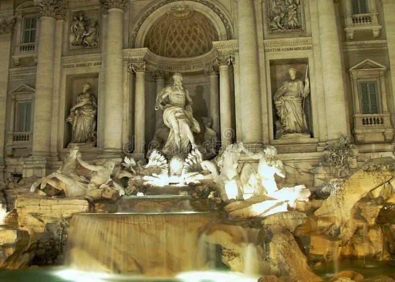 喷泉罗马trevi 免版税库存照片