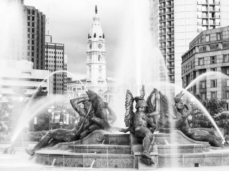 喷泉蚂蚁香港大会堂,费城,宾夕法尼亚 免版税库存图片