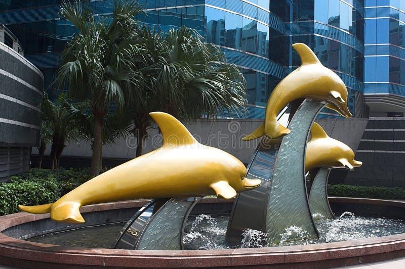 喷泉香港 库存照片