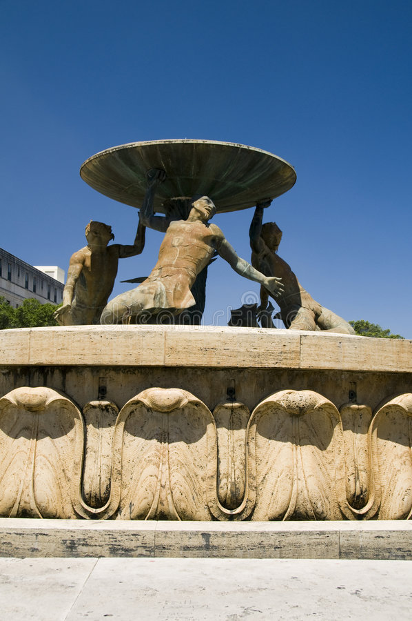 喷泉马耳他氚核瓦莱塔 免版税库存图片