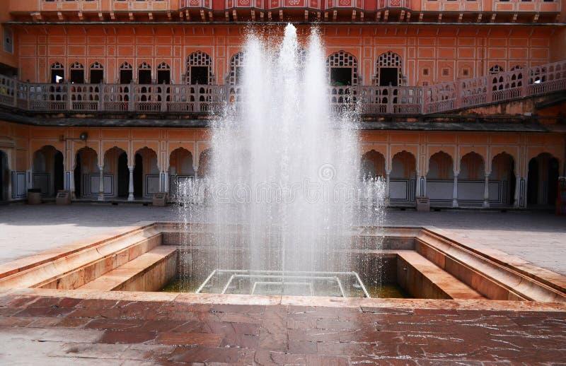 喷泉Hawa玛哈尔,斋浦尔 库存照片